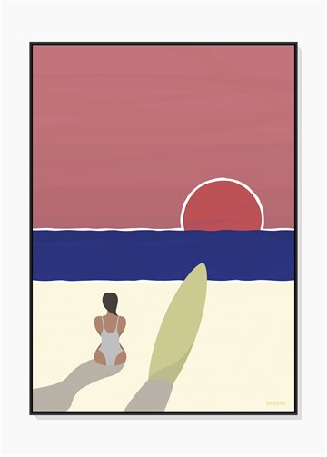 Sunset Surf - Plakat