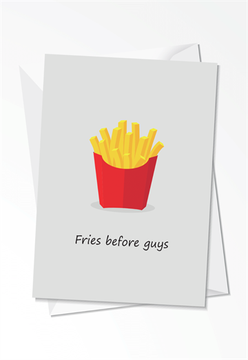 Fries before guys - Kort